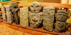 Esculturas de Piedra - Museo Mapuche - Pucon - Chile