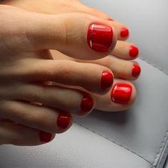 Simple Toe Nails, Cute Toe Nails, Dope Nails, Toe Nail Color, Nail Colors, Painted Toe Nails, Stylus, Pedicure Colors, Feet Nails