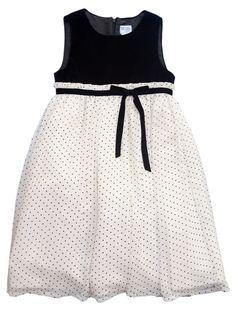 Luli & Me Polka Dot Dress - Pre-Teen Girl