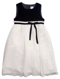 Luli & Me Polka Dot Dress - Pre-Teen Girl