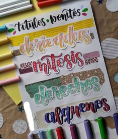 Hand Lettering Fonts, Lettering Styles, Lettering Tutorial, Brush Lettering, Pretty Notes, Cute Notes, Bullet Journal Lettering Ideas, Bullet Journal Ideas Pages, Shadow Drawing