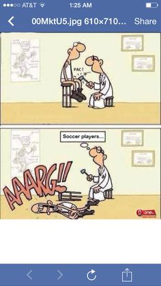 Soccer players = wimps