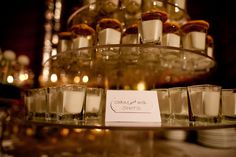 Cookies and milk shots. Precious - good for a holiday party with kiddos around!