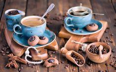 Coffee and chocolate cookies - Anna Verdina (Karnova) Coffee Heart, Black Coffee Mug, Brown Coffee, Coffee Is Life, Coffee Shop, Coffee Coffee, Cereal Cookies, Coffee Cookies, Chocolate Coffee