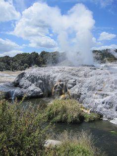 Te Puia thermal Reserve - Tauranga New Zealand via Sue Spargo Tauranga New Zealand, New Zealand Cruises, Kiwiana, Cruise Port, Niagara Falls, Travel Destinations, Australia, World, Places