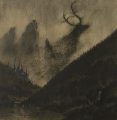original artwork for Agalloch, by Fursy Teyssier of Les Discrets