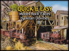 A quick and easy method for creating model rock faces from tissue paper by Allan Downes #modelrailway #modelrailroad