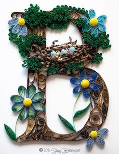 Nest in a Tree Letter B Monogram