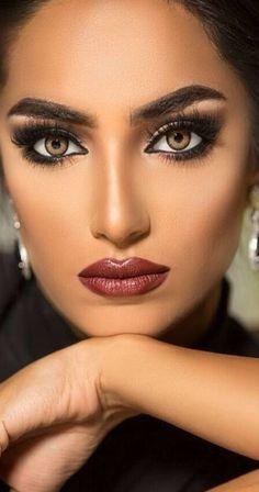 Pretty Eyes, Beautiful Eyes, Gents Hair Style, Perfect Makeup, Nice Makeup, Power Of Makeup, Exotic Beauties, Model Face, Asian Makeup