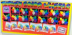 Apex Elementary Art: Turkey Time. Color Wheel Turkies