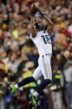 Seattle Seahawks wide receiver Sidney Rice pulls in a pass during against the Washington Redskins.