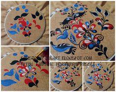 Sunstone Folk Art: Uftug painted cloth (Part 1) - Уфтюжская роспись по ткани (Часть 1)