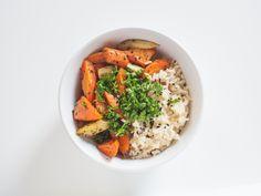 geröstete Möhren mit Kurkuma-Reis