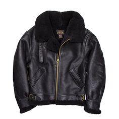 B-3 Authentic Black Sheepskin Jacket