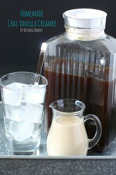 This quick and easy homemade vanilla chai creamer is the perfect addition to your coffee. You won't believe how easy it is to make your own coffee creamer! Keurig Recipes, Tea Recipes, Cooking Recipes, Recipies, Homemade Coffee Creamer, Make Your Own Coffee, Boston Tea Parties, Vanilla Chai, Homemade Vanilla