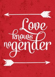 Love Knows No Gender Card from ThatGaySite.com! Gay, Lesbian, Transgender, Bisexual - love knows no gender!