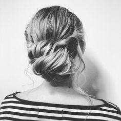 #updo #hairstyle #hairtrends #blackandwhite #hair #hairbyannamary