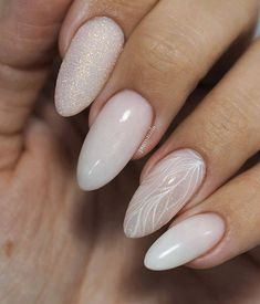 99 Captivating Neutral Nail Art Designs Ideas To Copy In 2019 : 99 Captivating Neutral Nail Art Designs Ideas To Copy In 2019 Cute Acrylic Nails, Cute Nails, Pretty Nails, My Nails, Hair And Nails, Neutral Nail Art, Nail Effects, Bride Nails, Sparkle Nails