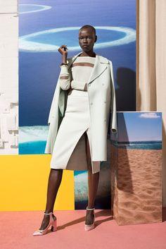 Bon Voyage - Grace Bol slips into Resort 2015's perfect pastels.