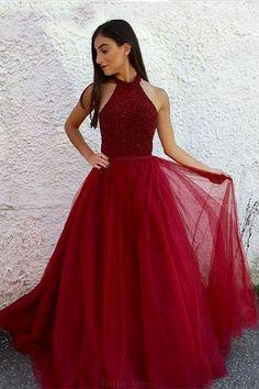 Burgundy Prom Dresses #BurgundyPromDresses, Prom Dresses Red #PromDressesRed, A-Line Prom Dresses #ALinePromDresses, Long Prom Dresses #LongPromDresses