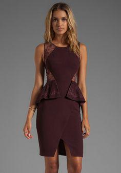 BCBGMAXAZRIA Whitley Sleeveless Peplum Dress on shopstyle.com