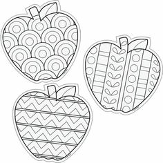 Color Me 6 Designer Cut Outs Apples: Colouring Pages, Adult Coloring Pages, Coloring Books, Apple Coloring, Autumn Crafts, Autumn Art, Arte Elemental, Crafts For Kids, Arts And Crafts
