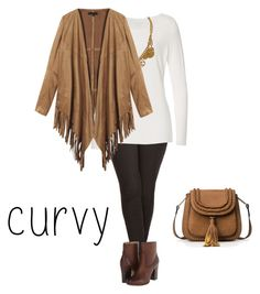 """""""Curvy Fringes Outfit"""" by semplicementecurvy on Polyvore featuring moda, City Chic, Frye, Chanel, curvy e curvyoutfit"""