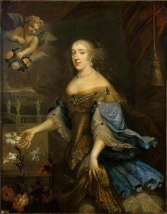 Undated portrait of La Grande Mademoiselle (Anne Marie Louise d'Orléans, Duchess of Montpensier) by a member of the School of Pierre Mignard.jpg