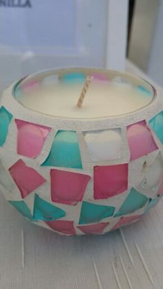 Soy Wax Candles poured in Port Douglas QLD Mosaic - 38hr burn time $15 @Pip Parbery