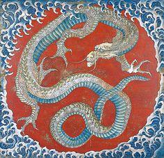 Tattoo Geek, Hokusai Paintings, Ceiling Painting, Painting Art, Japanese Dragon Tattoos, Art Manga, Art Vintage, Katsushika Hokusai, Samurai Tattoo
