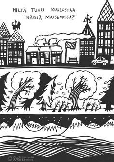Kortti 19. Oletko koskaan huomannut, että tuuli ei kuulostaa aina samanlaiselta? Pohtikaa yhdessä, mitkä kaikki asiat vaikuttavat siihen. Kuvailkaa omin sanoin tuulta eri tilanteissa (suhiseva tuuli, vinkuva tuuli jne.). Early Education, Early Childhood Education, Special Education, Sensory Activities, Activities For Kids, Finnish Language, Teaching Music, Pre School, Speech Therapy
