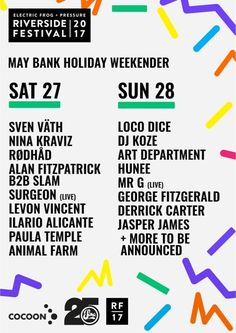 Glasgow's Riverside Festival 2017 announced...: After last Summer's sell-out on the banks of the Clyde, Electric Frog & Pressure announce…