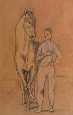 'Horse with a Youth in Blue' (1905–6) by Pablo Picasso