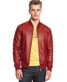Armani Jeans Eco Faux-Leather Jacket - Coats & Jackets - Men - Macy's