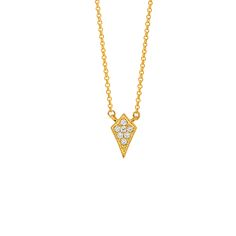 Marquis Necklace #SaraWeinstockJewelry #SWGem || 18k GOLD WHITE DIAMOND MARQUIS ELONGATED 14″ NECKLACE || GOLD: 3.0 g TDW: 0.1 ct ||