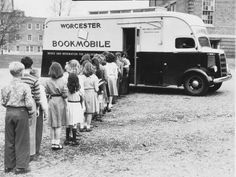 1950's bookmobile.  This is how we borrowed our books from the library.