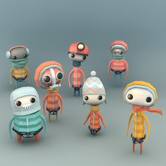 Low-Polygon 3D Artworks by Erwin Kho  Character style inspiration