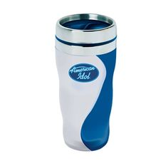 """Experience joy and tranquility with our new ying yang designed tumbler. 16 oz. Satin finished tumbler with chrome liner Patented spill resistant elegant """"S"""" shape lid. Fits all standard car cup holders. PATENTED #D546,762S."""