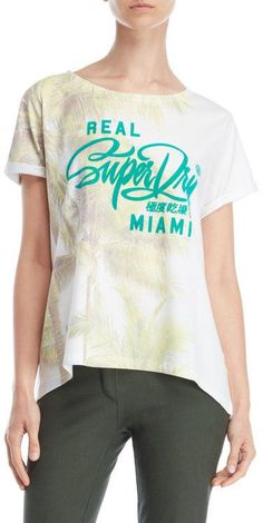 Superdry Miami Photographic Flocked Boyfriend Tee