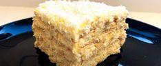 Przepyszne ciasto Śnieżny Puch nie wymaga pieczenia. Znika z talerzy tak szybko jak topiący się śnieg | smakosze.pl Krispie Treats, Rice Krispies, Vanilla Cake, Food, Cakes, Cake Makers, Essen, Kuchen, Cake