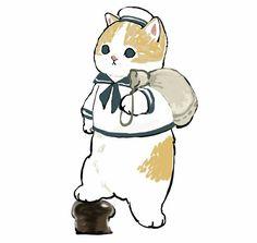 Studio Ghibli Art, Pretty Drawings, Cat Pose, Stray Dogs Anime, Korean Art, Cute Animal Drawings, Black Veil Brides, Kawaii Art, Cartoon Pics