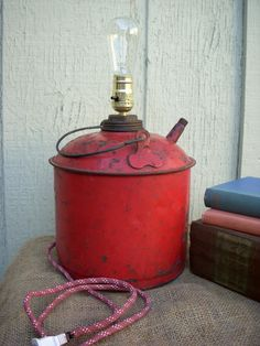 Rustic Gas Can Upcycled into a Modern Lamp  by RenegadeLighting, $65.00