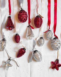 The heirloom-quality of these Mercury Glass Ornaments makes for thoughtful keepsakes and holiday mementos.