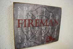Fireman Sign Fireman Decor Firefighter Sign by Herosigns on Etsy