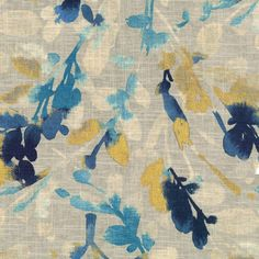 Waverly Leaf Storm Indigo Fabric