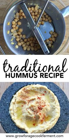 This traditional hummus recipe gives you the authentic texture and flavor of Mediterranean restaurant style hummus. It really is the best hummus you'll ever make! Get the recipe and learn my tips and tricks for making traditional hummus using a food mill. Easy Healthy Recipes, Real Food Recipes, Cooking Recipes, Healthy Meals, Food L, Good Food, Food Mills, Hummus Recipe, Fodmap Recipes