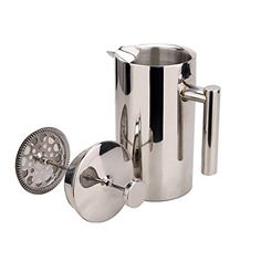 Double Wall Stainless Steel French Coffee Press and  Tea Maker, Coffee Maker, 1 Liter ^^ You can get more details here : French Presses