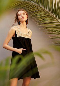 Black bohemian dress SS18 Meisïe