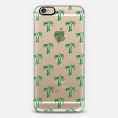 Green Tropical Palm Trees Pattern Transparent iPhone 6 Case by Organic Saturation | Casetify Get $10 off using code: 53ZPEA