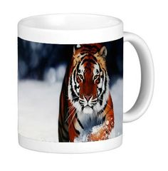 Tiger in Snow 11 ounce Ceramic Coffee Mug Tea Cup by Compass Litho -- You can find more details by visiting the image link. (This is an affiliate link and I receive a commission for the sales) Cat Mug, Compass, Tea Cups, Coffee Mugs, Image Cat, Snow, Ceramics, Canning, Pets